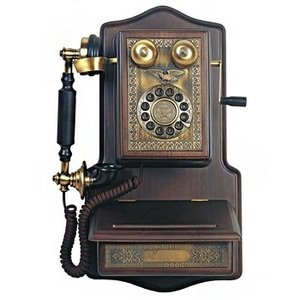 Paramount 1907 Wooden Wall Reproduction Phone by Paramount