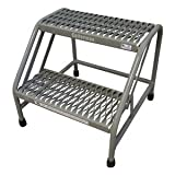 Mobile Step Stand, 20 In H, 500 lb., Steel