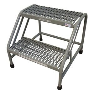 Mobile Step Stand, 20 In H, 500 lb, Steel
