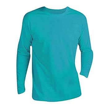 SOLS - Camiseta de manga larga para hombre - Modelo Monarch (Pequeña (S)/Azul agua)