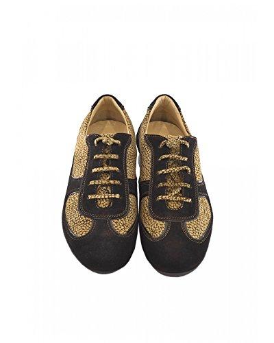 Borbonese cordones de marrón para marrón mujer ante de Zapatos PBOnwxpqrP