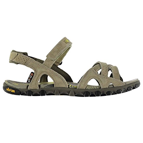 Karrimor Womens Barbuda Sandals Shoes Touch and Close Lightweight Vibram Brown GhO0KdvG