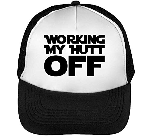 Working My Hutt Off Gorras Hombre Snapback Beisbol Negro Blanco
