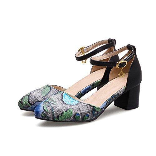 5 Compensées Femme Bleu Sandales 36 Bleu BalaMasa Rwaq8AWpS