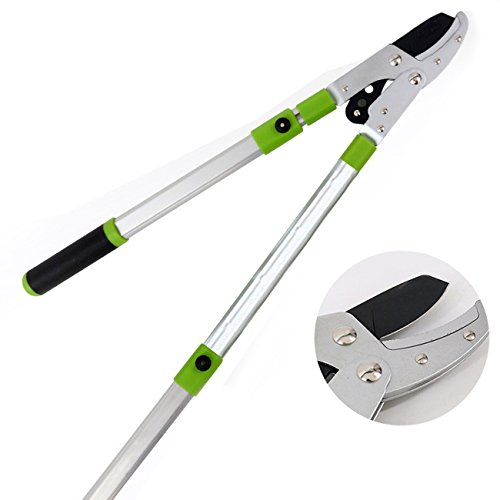 Kioos Retractable Light-weight Aluminium Loppers fruit trees pruner extendable stretch Lever Drive (Telescopic Lopper)