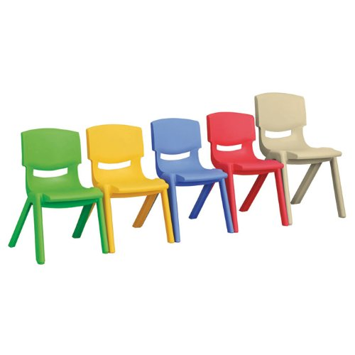 Polypropylene Classroom Stackable Chair Seat Color: Blue, Seat Height: 12''