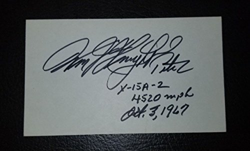 Astronaut Pilot Pete Knight Hand Signed Index Card Todd Mueller W/COA Vietnam