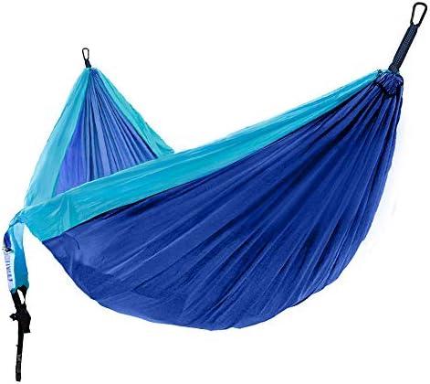 CozyHoliv Camping Hammock, Portable Parachute Hammocks for Outdoor Hiking Travel Backpacking – 210D Nylon Hammock Swing for Backyard Garden