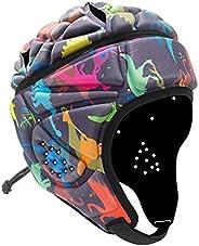 Soft Helmet Adjustable Soft Padded Headgear Flag Football Rugby Helmet 7v7 Soft Shell Head Protector Soccer Go