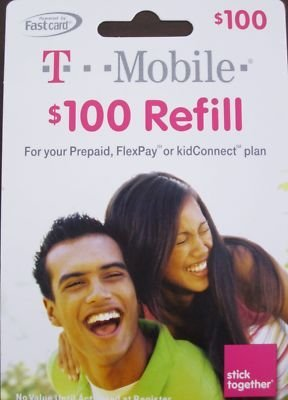 T-Mobile 100 dollars ToGo Prepaid Refill Card 1000 Minutes by T Mobile