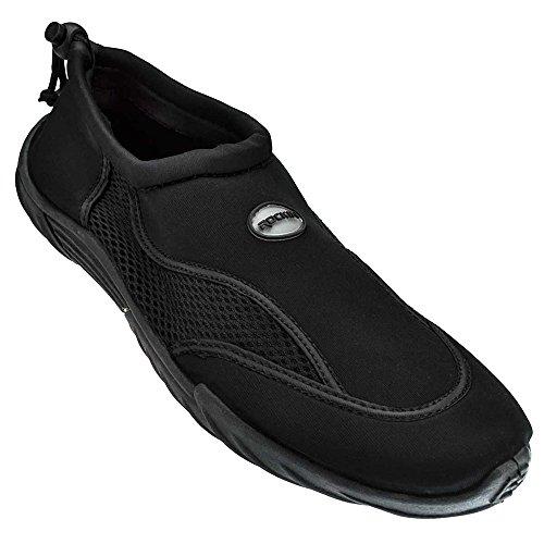 Rockin Footwear Männer Rockin Aqua Stripes Wasserschuh Schwarz