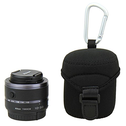 JJC JN-M Lens Case Bag Pouch for Olympus M.Zuiko Digital 14-42mm 1:3.5-5.6 II Samsung 20-50mm F3.5-5.6 II & Sony SELP 1650 Nikon 1 Nikkor VR 10-30mm f/3.5-5.6 Fujifilm 18mm F2 Lens 6950291539212