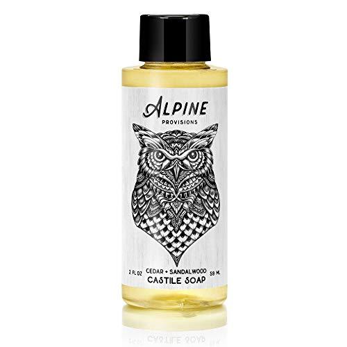 Alpine Provisions Castile Soap - Cedar + Sandalwood - 2oz- 12 pack (Pangea Organics Organic Soap)