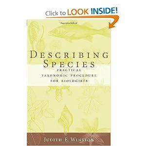 Describing Species Judith Winston