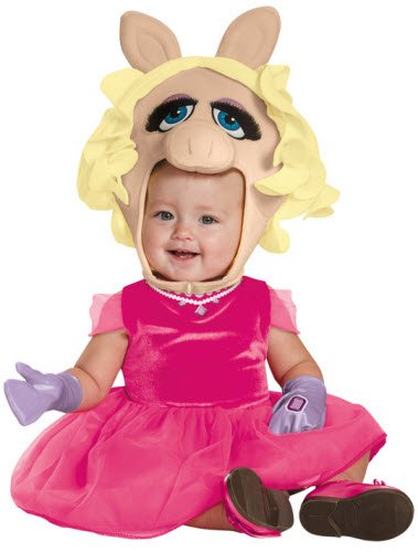 Disguise 88637M Miss Piggy Toddler Costume, Medium (Miss Piggy Costume Toddler)