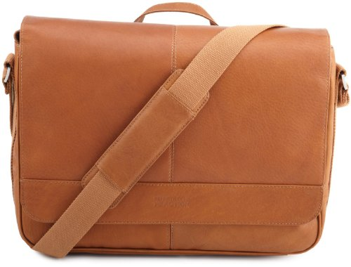 Kenneth Cole Reaction Columbian Leather Messenger Bag in Tan by Kenneth Cole