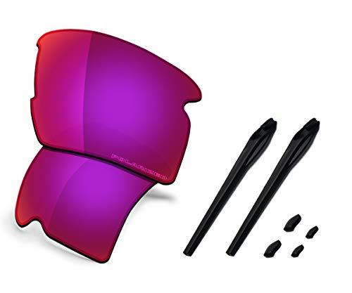 (Saucer Premium Replacement Lenses & Rubber Kits for Oakley Flak 2.0 XL Sunglasses High Defense - Midnight Sun Polarized)