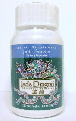 (Jade Screen, 200 Pills, Yu Ping Feng Wan, Teapills by Jade Dragon)