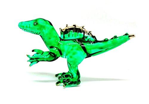 Handmade Mini Spinosaurus Art Glass Blown Jurassic Dinosaur Figurine Miniature - Model Y2018