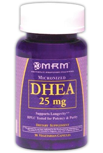MRM micronisée capsules végétariennes DHEA, 25 mg, 90-Count Bouteilles (Pack de 3)