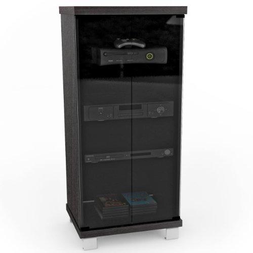 Sonax C-001-CHT Holland 20-Inch Wide Ravenwood Black Glass Component Stand (Glass Door Component Stand compare prices)
