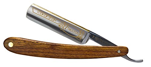 Dovo 1165831 Forestal 5/8'' Carbon Steel Straight Razor, Full Hollow Ground, Redwood Scales, with Shave Ready Option (Factory Edge, Sealed) by Dovo