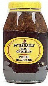(Mrs Balls PEACH Chutney (1.1Kg wide mouth plastic bottle) - Imported from South)