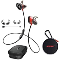 Bose SoundSport Pulse Wireless In-Ear Headphones, Red - With Bose Charging Case for SoundSport Wireless Headphones