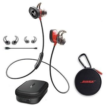 bose in ear wireless. bose soundsport pulse wireless in-ear headphones, red - with charging case for in ear