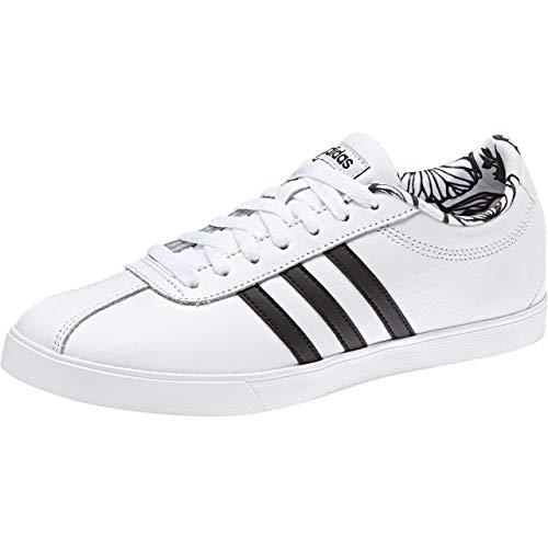 De cblack Ftwwht ftwwht Femme Blanc Tennis Chaussures ftwwht ftwwht cblack Courtset Adidas PqwEaxwg