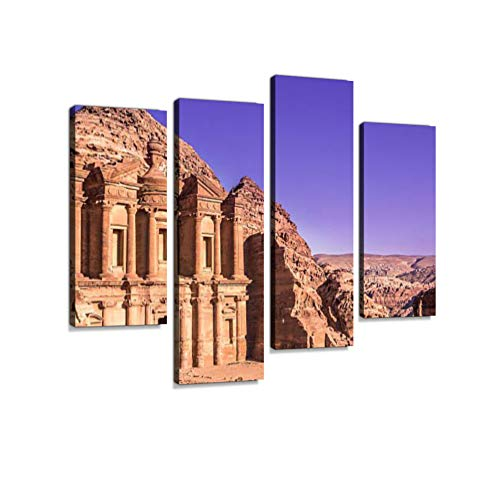 Petra Monastery, Jordan Canvas Wall Art Hanging Paintings Modern Artwork Abstract Picture Prints Home Decoration Gift Unique Designed Framed 4 ()