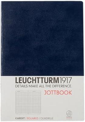 LEUCHTTURM1917 Jottbook 343067 - Cuaderno de notas (A5), hojas cuadriculadas, color azul marino