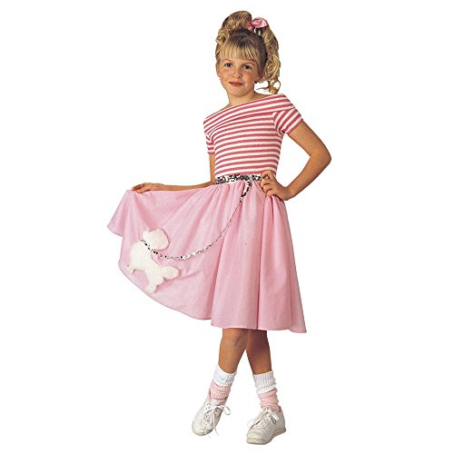 Poodle Skirt Kids Costume (Girls Nifty 1950s Costume)