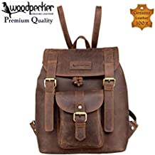 Woodpecker Top Quality Full Grain Real Cowhide Leather Men Women Backpack - Latest Design Casual and Formal Unisex Backpack