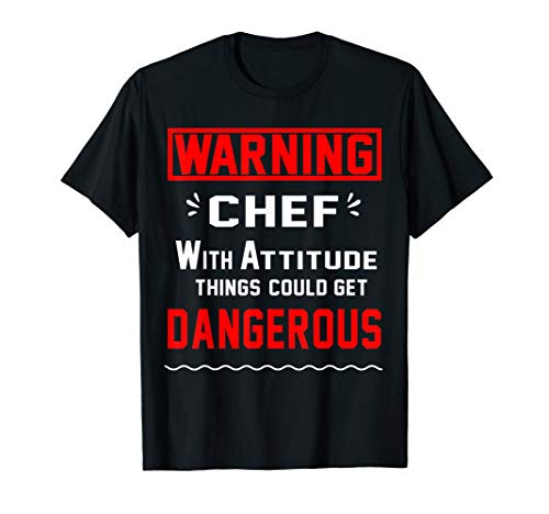 (Pastery chef T Shirt Warning Chef With Attitude)