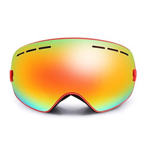 Lunettes de Ski, Hicool Masque de Snowboard Antibuée Anti-UV Grand-angle de  ... 594a9d0b4fb8