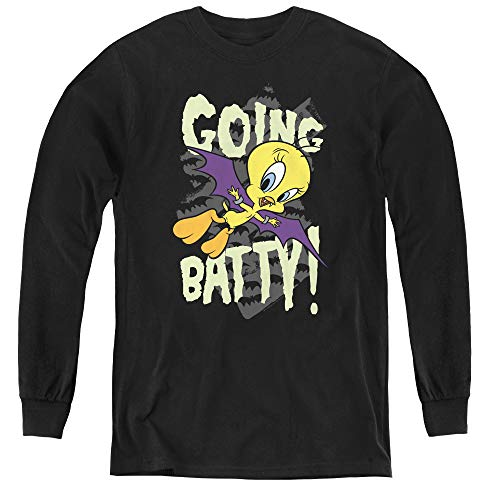 T-shirt Looney Youth Tunes - Looney Tunes Youth Long Sleeve T Shirt, X-Large Black