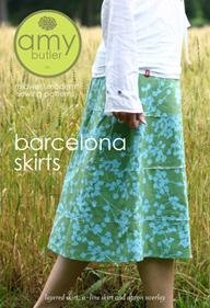 Amy Butler Barcelona Skirts 3 Style Skirt Sewing Pattern (Amy Butler Apron Pattern)