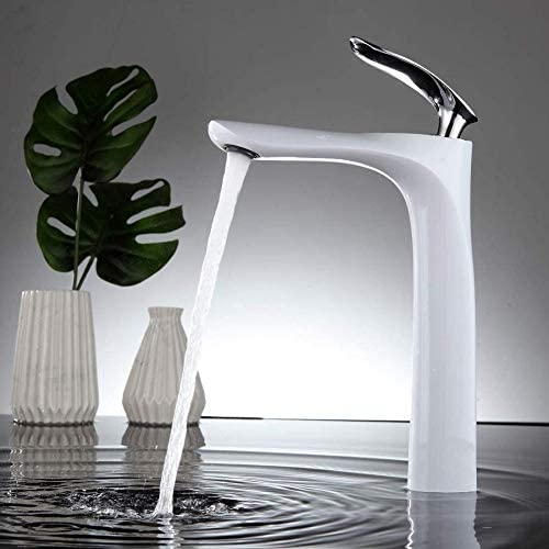 風呂用ホワイト蛇口バスルームの高洗面所の蛇口ミキサー流域ミキサー
