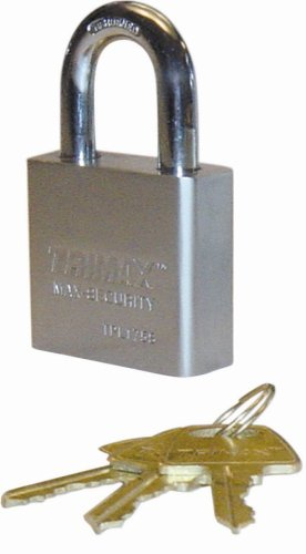Trimax TPL275L Square Hardened 50mm Solid Steel Padlock 2.25'' x 10mm Dia. Shackle - Rekeyable