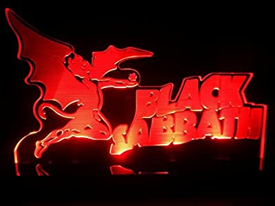 Black Sabbath Heavy Metal Rock LED Desk Lamp Night Light Beer Bar Bedroom Game Room Signs