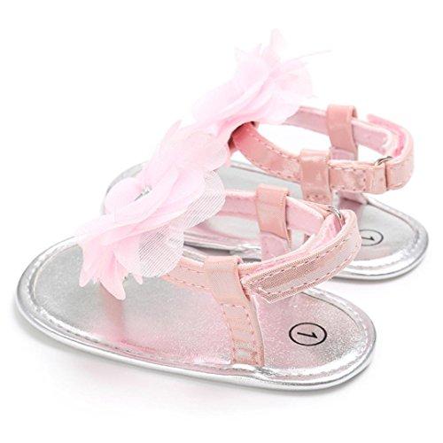 Baby Mädchen Sandalen, Sommer Süße Große Blumen Kleinkinder Kinder Flip Flops Rosa