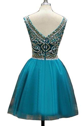 Ärmelloses Heimkehr Perlen Damen Kleid Gaze Blau emmani Weiß 5vn6p6q