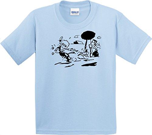 Krazy Kat Shirt Light Blue Gildan Men's Cotton preshrunk Soft Tee
