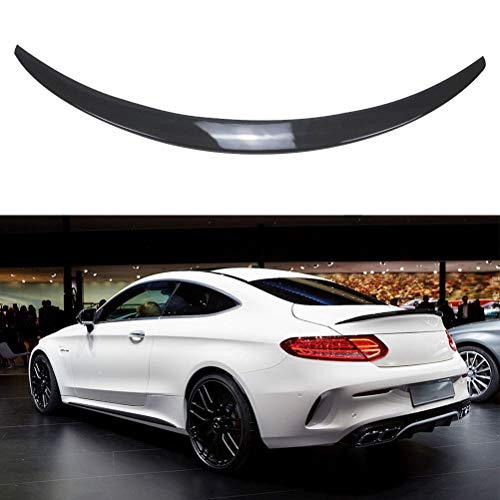 YOUNGERCAR Trunk Spoiler for 2015-2019 Mercedes Benz W205 C Class C180 C200 C250 C300 C63 C43 2 Door Coupe Carbon Fiber Coating Rear Trunk Wing