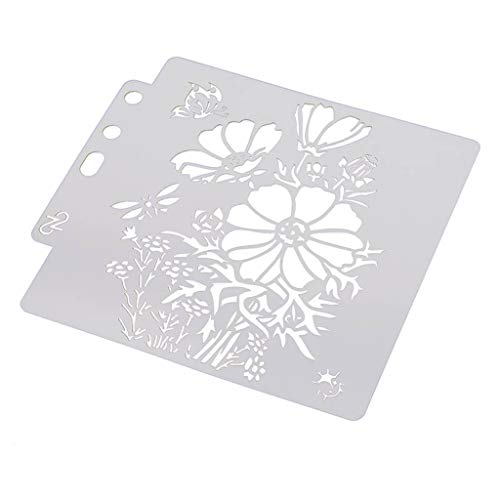 Simdoc DIY Flower Stencils Template for Painting Scrapbooking Embossing Stamping Making Photo Album Card Crafts