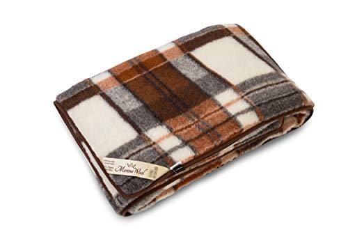 (SPW-MerinoWool Warm, Natural Merino Wool Blanket/Throw 100% Wool, Blanket, Size 98