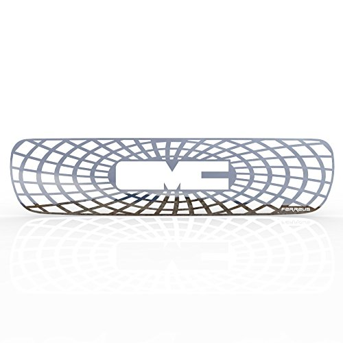 (Ferreus Industries Grille Insert Guard Spiderweb Polished Stainless fits: 2000-2006 GMC Yukon TRK-130-07-Chrome-b)