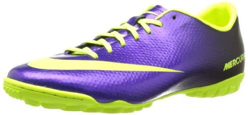 Mens Nike Mercurial Victory Iv Turf Fotboll Sko Electro Lila / Svart / Volt Storlek 7,5