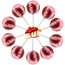 10ct. Cherry Cheesecake Cream Swirl Lollipop Bag (Cherry Cheesecake)